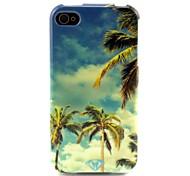 Kokosnussbaum-Muster-TPU weiche Tasche für iPhone 4 / 4S