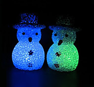 Snowman EVA Crystal Color-changing Night Light
