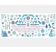 2PCS Blue Snow Water Transfer Printing Nail Stickers