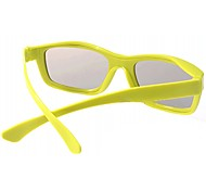 Polarized Light Split-screen 3D Glasses for TV (Yellow)