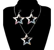 clásica forma de la estrella de la joyería de shinning (1 juego)