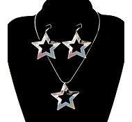 Classic Star Shape Shinning Jewelry Set(1 Set)