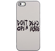 Raffreddare Hard Case Word design in alluminio per iPhone 5/5S
