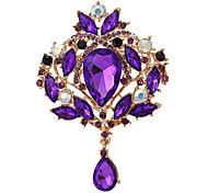 Fashion Amazing Big Size Silver Alloy Rhinestone Brooches(1 Pc)