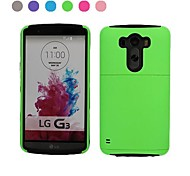 Solid Colour Back Cover with Card Slot for LG G3