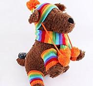 Kopftücher & Hüte für Hunde Rosa / Gelb Winter XS / S / M / L Baumwolle