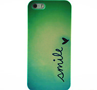 glimlach vlinderpatroon harde Cover Case voor iPhone 4 / 4s