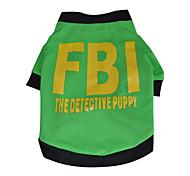 Camiseta - Verde - de Algodão Cães
