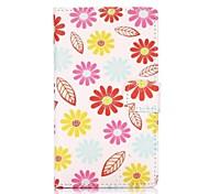colorato fiori stile portafoglio supporto capovolgere magnetico TPU e la cassa di cuoio dell'unità di elaborazione per Nokia Lumia 1020