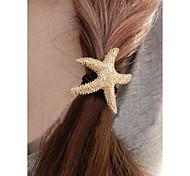 Fashion Starfish Hair Ties for Women Hair Accessories