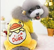 Cute Duck Patten Warm Four Feet Garments for Pet Dogs XXL