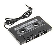 áudio do carro jogador cassete adaptador (preto)