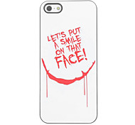 Unique Smile Design Aluminium Hard Case for iPhone 5/5S