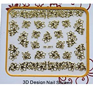 Newest Golden Metal Art Nail Manicure Stickers Decoration For Nails Toe DIY