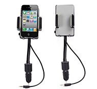 Universal Hi-Fi Stereo FM Transmitter Car Charger Car Holder for iPhone Samsung HTC and Other