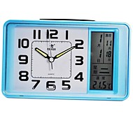 POWER™ Style Square Shape LCD Night-light Perpetual Calendar Thermometer Snooze Bule Alarm Clock