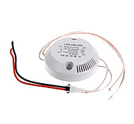0.3a 13-18w dc 35-70v al conductor ac 85-265v circular externa de corriente constante fuente de alimentación para la lámpara de techo llevada