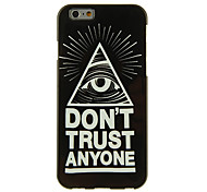 Triangle Eye Pattern Smooth Surface TPU Soft Back Cover for iPhone 6/6S