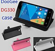 vendita calda cassa di cuoio dell'unità di elaborazione del cuoio di vibrazione 100% per dg330 doogee sinistra a destra smartphone a 3 colori