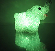 Elephant EVA Crystal Color-changing Night Light