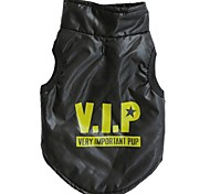 VIP Pattern Cotton-Padded Vest for Pets Dogs (Assorted Colors, Sizes)