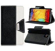 Faux Leather Dual Color Stand Flip Case with Magnetic Closure for Samsung Galaxy Note 3 N9000 (Assorted Colors)