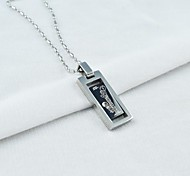 de titanio de acero colgante de los hombres de moda collar giratorio