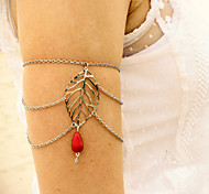 Shixin® Fashion Leaf Red Resin Tassel Arm Chains(1 Pc)