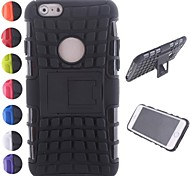 Two-in-One Tire Grain Design PC and Silicone Cover with Stand for iPhone 6 (Assorted Colors)