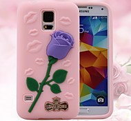 3d rose et les lèvres sexy modèle silicium boîtier en caoutchouc pour le samsung galaxy i9600 (couleurs assorties)