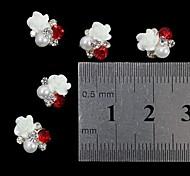 10шт 3d розы жемчужина горный хрусталь DIY аксессуары украшения искусства ногтя