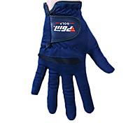 paño de microfibra oscuro dedo lleno azul 1 par transpirable guantes de golf de las mujeres pgm