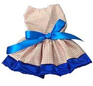 Dog Dresses - S / M / L / XL - Summer - Red / Blue Terylene