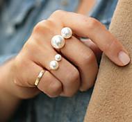 shixin® klassischen Doppelperlenband Ring (1 Stk) Zufallsgröße