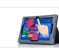 11.6 '' padrão de lichia caso de corpo inteiro com pu couro para Lenovo miix2 11 tablet pc caso
