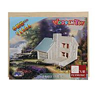 DIY handgemachten Holzvilla Muster Spieluhr Spielzeug