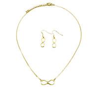 Shixin® Fashion Good Luck 8 Shape Jewelry Set(Necklace+Earring)(1 Set)
