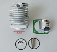 40mm poche cylindres de moto kits de piston pour 2 temps fosse de dirt bike scooter de gaz vélo motorisé mini-quad