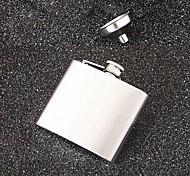 portable Edelstahl Flachmann (5 oz, mit Trichter)