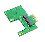 Mini PCI-e 52pin Socket to PCI-e Express Gold Contact Adapter PCBA For Wireless Cards