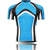 XINTOWN Men 's Contracted Breathable Polyester Short Sleeve Cycling Jersey