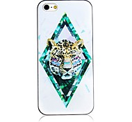 Picture Frame Leopard Pattern Black Frame Back Case for iPhone 4/4S