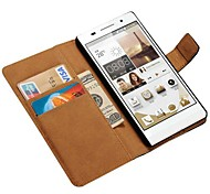 Genuine Leather Case for Huawei Ascend P7 Wallet Style with Card Holders