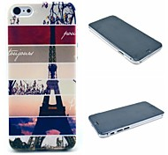 Striped Eiffel Tower Pattern Hard Cover for iPhone 6