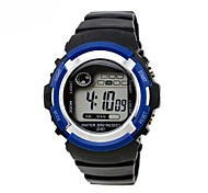 Children's Round Dial PU Band Multifunction LED Sports Wrist Watch 30m Waterproof (Assorted Colors) Cool Watches Unique Watches