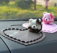 General Lovely Heart-shaped Winnie Anti-skid Pad For Automobile