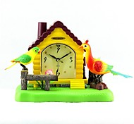 megafeis® t300 belle alarme maison de paon oiseau horloge porte-plume chirm ondulée / nouveau nouveau cadeau de Noël de l'année pour les enfants