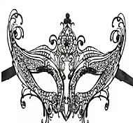 Fashion Party Queen Black Metal Women's Halloween Mask
