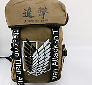 Bag Inspired by Attack on Titan Cosplay Anime Cosplay Accessories Bag / Backpack Blue / Brown Canvas / Nylon Male / Female