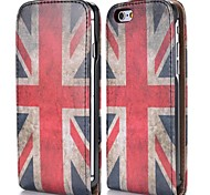 UK Flag Fashion Vertical Style Magnetic Flip PC+PU Leather Case for iPhone 6
